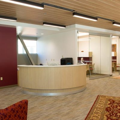 Interior commercial lighting and wiring